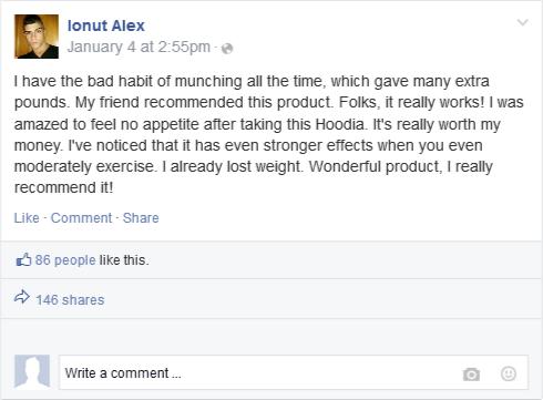 Facebook Review of Hoodia