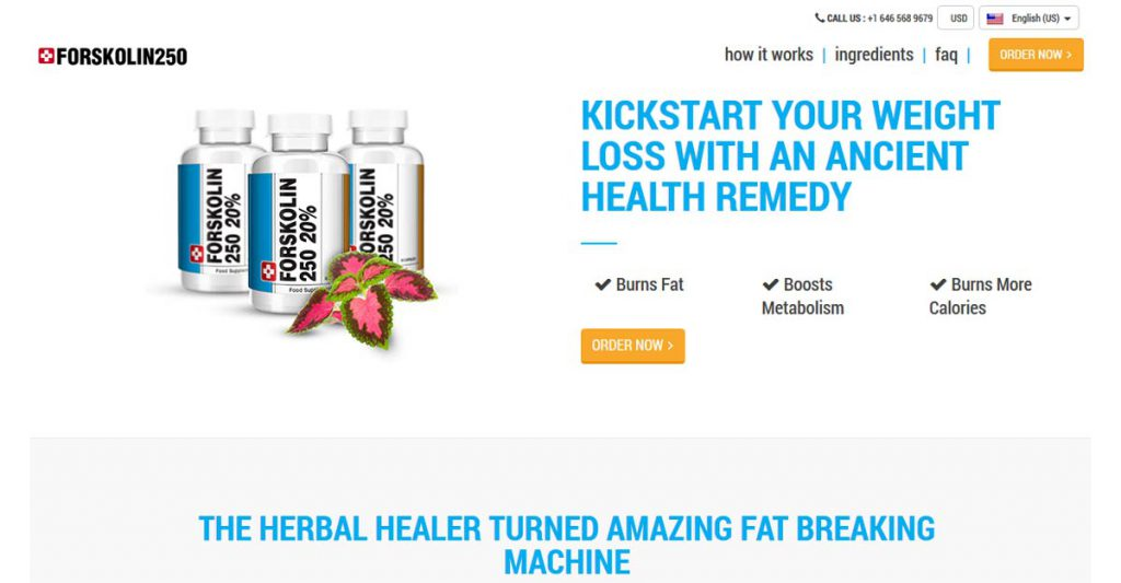 Pure Forskolin 250 Oficial Site
